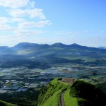 Mt. Aso five and rice field and Laputa