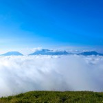Mt. Aso five floating in a sea of clouds