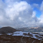 厳冬の米塚
