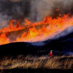 Image of burning off a field