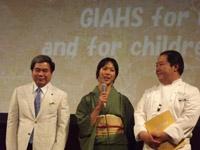 左から蒲島熊本県知事、大津氏、宮本氏の画像